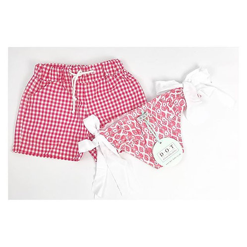 DOT Pedro Swim Shorts Cherry Check
