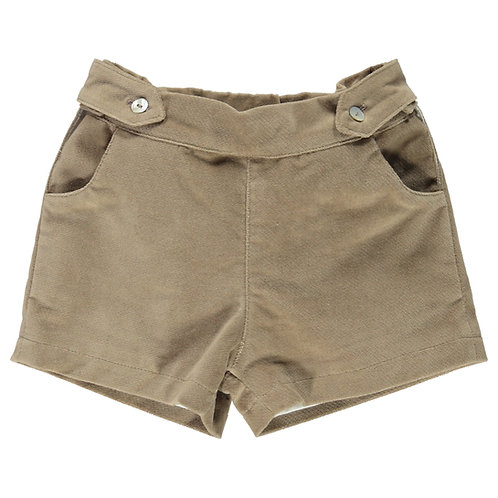 DOT Winter Dylan Taupe Velour Shorts