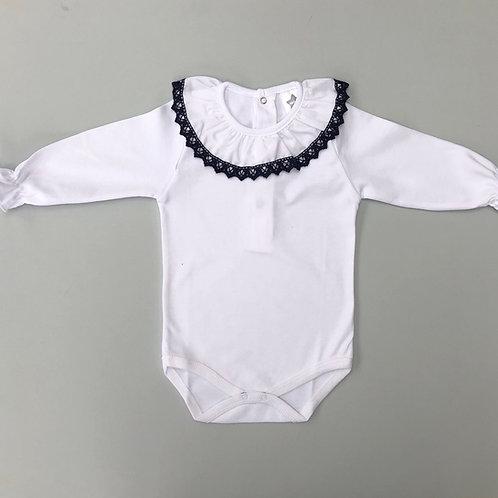 Minhon Navy Crochet Edge Body