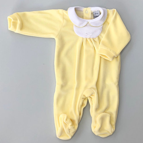 Babidu Yellow Velour Romper 19433
