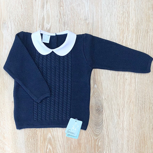 Granlei Navy Cable Front Jumper