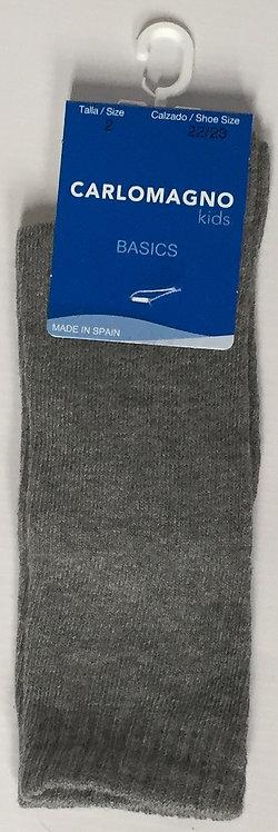Carlomagno Grey Plain Knee Sock