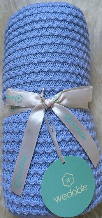 Wedoble Blue Knit Blanket