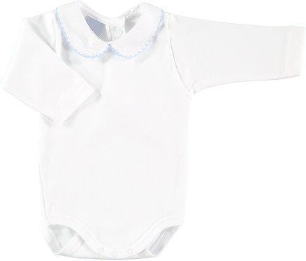 Babidu  Peter Pan Collar Body - Baby Blue Pique