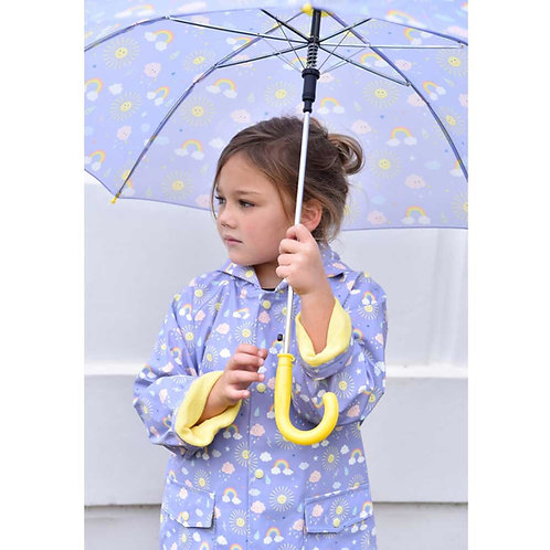 Sunshine & Rainbows rain coat