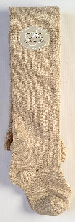 Beige Carlomagno Plain Knit Tights
