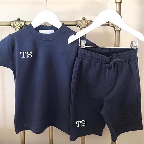 Navy Tee Shirt and Shorts