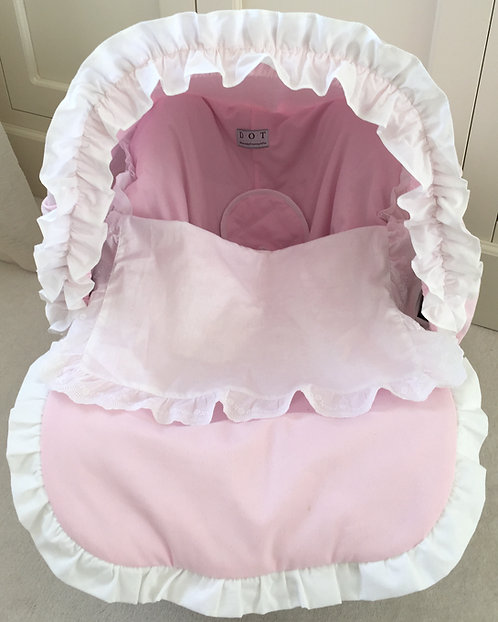 Dot Car Seat Cover Baby Pink