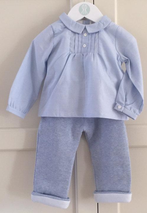 Patachou blue padded leggings and shirt