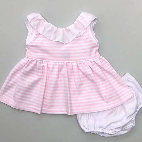 Babidu Pink Stripe Two Piece