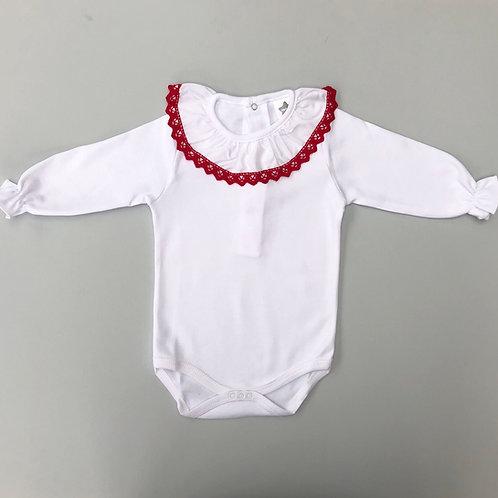 Minhon Red Crochet Edge Body
