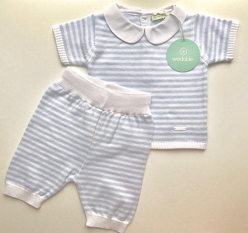 Wedoble Blue and White Stripe Jumper and Shorts
