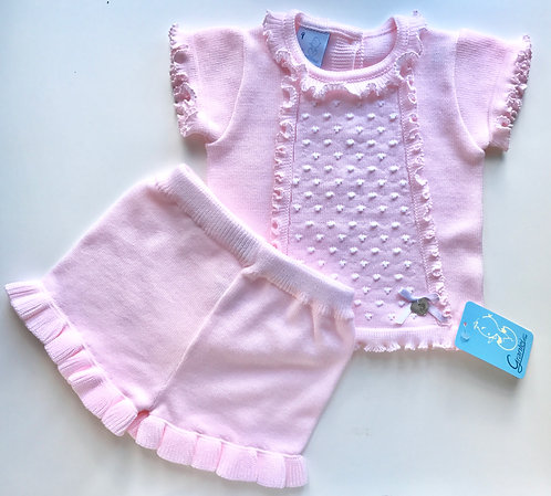 Granlei Pink Dotty Shorts Set
