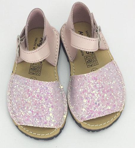 Angelitos Pink Glitter Espadrilles