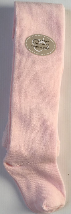 Pink Carlomagno Plain Knit Tights