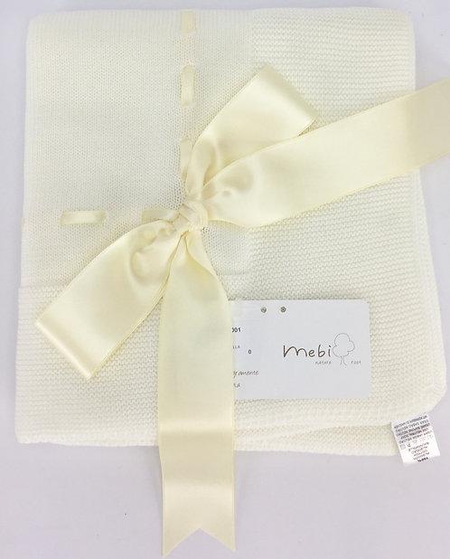 Mebi Cream with Cream Ribbon Blanket