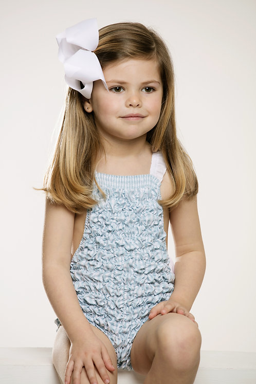 Frilled Sweetness Blue Gingham Sunsuit Sal and Pimenta