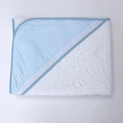 Minhon Blue Check Hood Towel