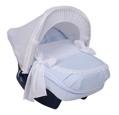 Nubeluna Bianca Car Seat Cover With Hood Baby Blue