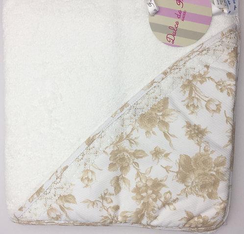 Dulce de Fresa Camel Flowers Hooded Towel