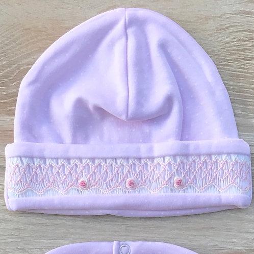 Kissy Kissy Pink Smocked Hat