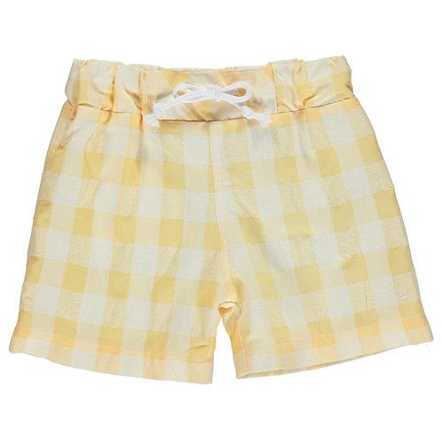 DOT Pedro Swim Shorts Yellow Check Stripes
