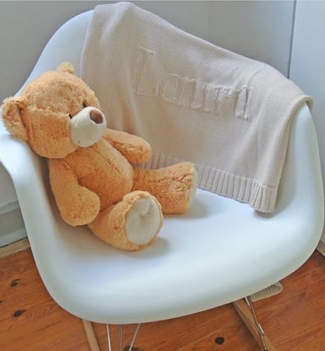 Wedoble Personalised Cashmere Baby Blanket