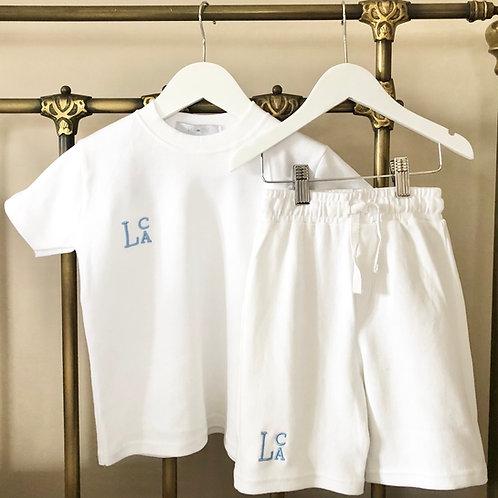 White Tee Shirt and Shorts