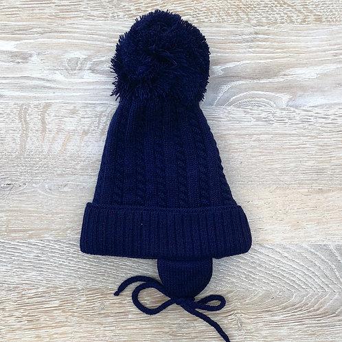 Pom Pom Hat Navy