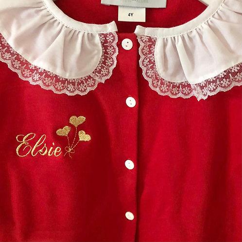 Girls Classic Valentines embroidery Pyjamas
