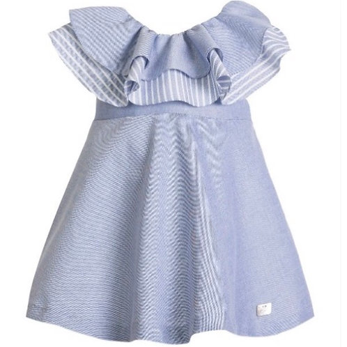 Eve Blue Bow Back Dress