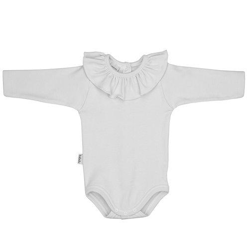 Babidu White frill collar soft vest
