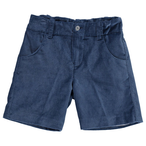 DOT Jose Shorts Blue Velour
