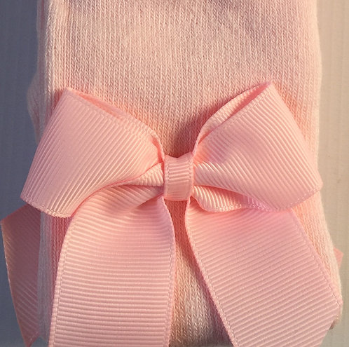 Carlomagno Pink Grosgrain Bow Tights