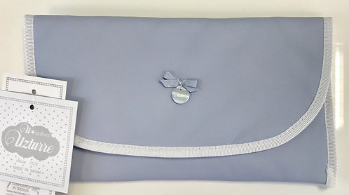 Uzturre Blue Leatherette Wet Wipes Bag