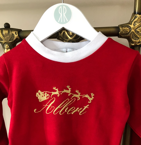 Christmas Pyjama Embroidery Mistake