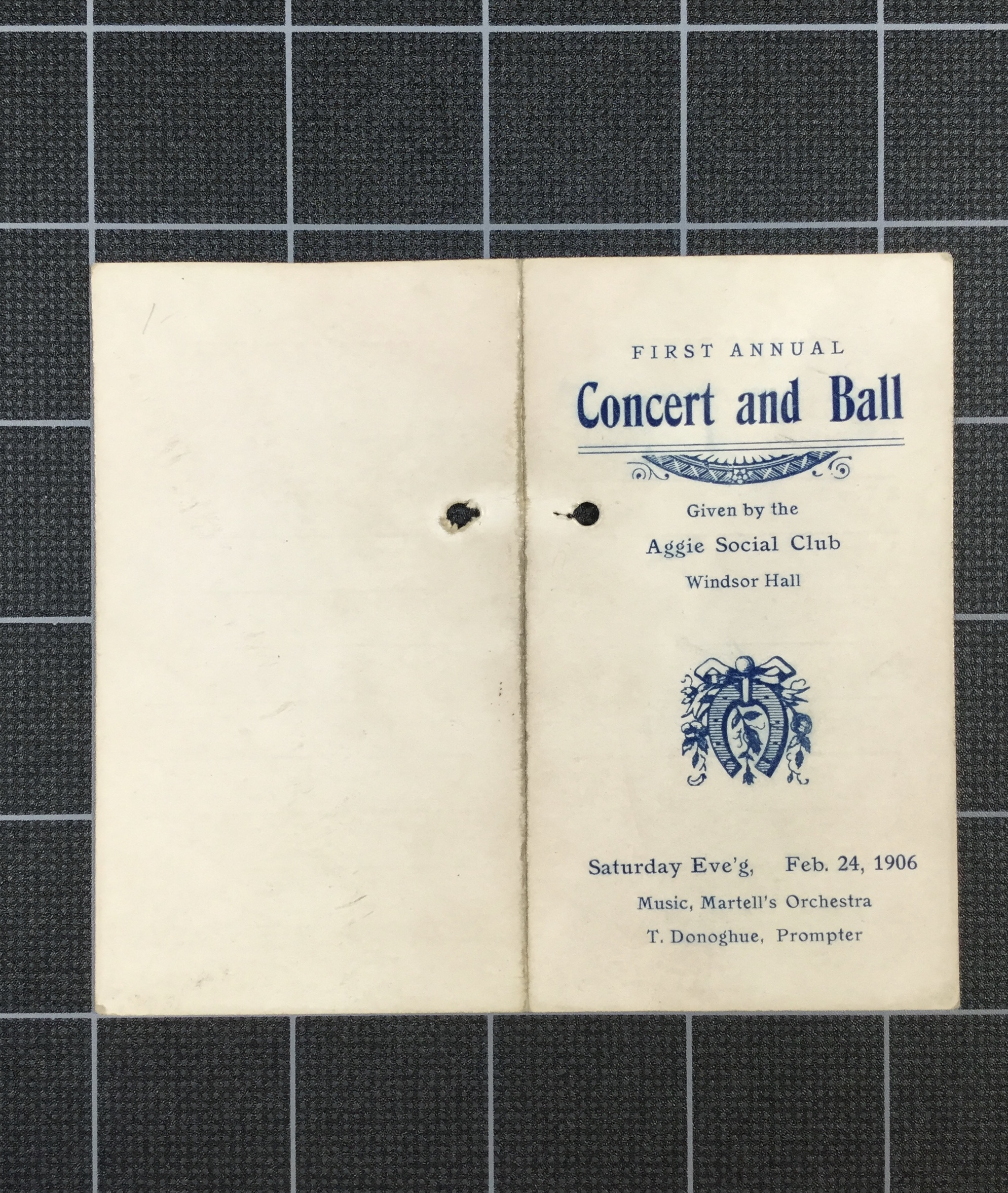 First Annual Concert & Ball (1906)