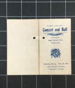 First Annual Concert & Ball (1906)