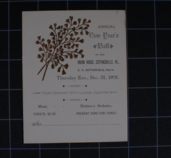Annual New Years Ball (1891)