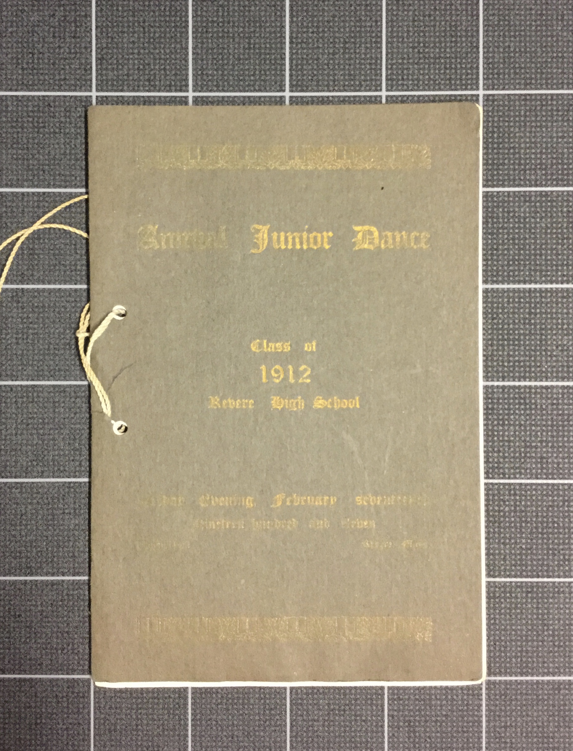 Annual Junior Dance (1912)