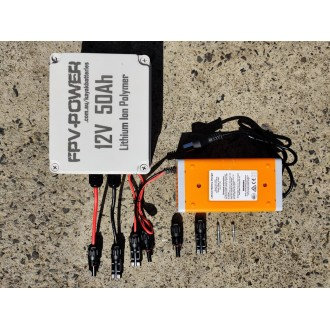 FPV-POWER 50AH KAYAK BATTERY AND CHARGER COMBO