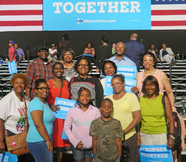 Little Rock AME Zion Members Attend Clinton/Obama Joint Campaign Event in Charlotte, NC
