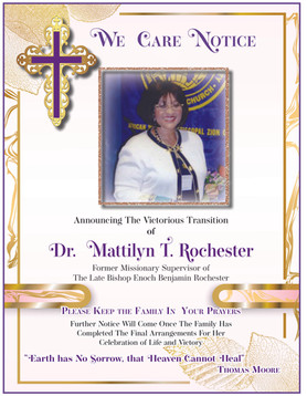We Care Notice for Dr. Mattilyn T. Rochester