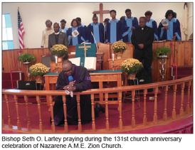 Nazarene A.M.E. Zion Celebrates 131st Church Anniversary