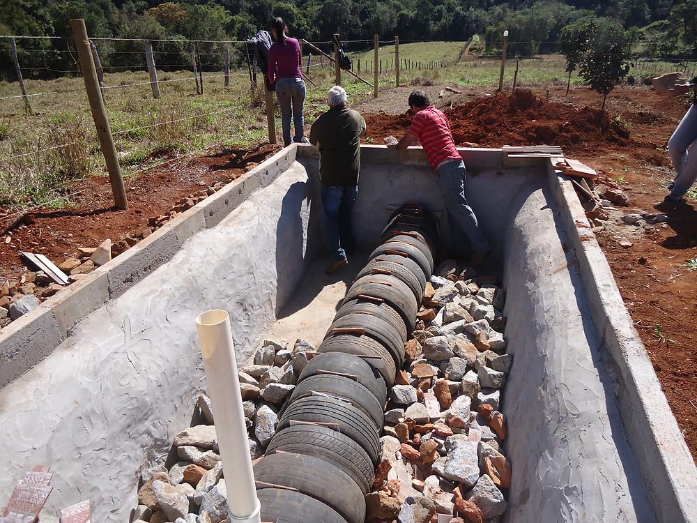 Tevap, tanque de evapotranspiração, tecnologia alternativa, lagoa de aguapé, esgotamento embrapa, wetlands construídos