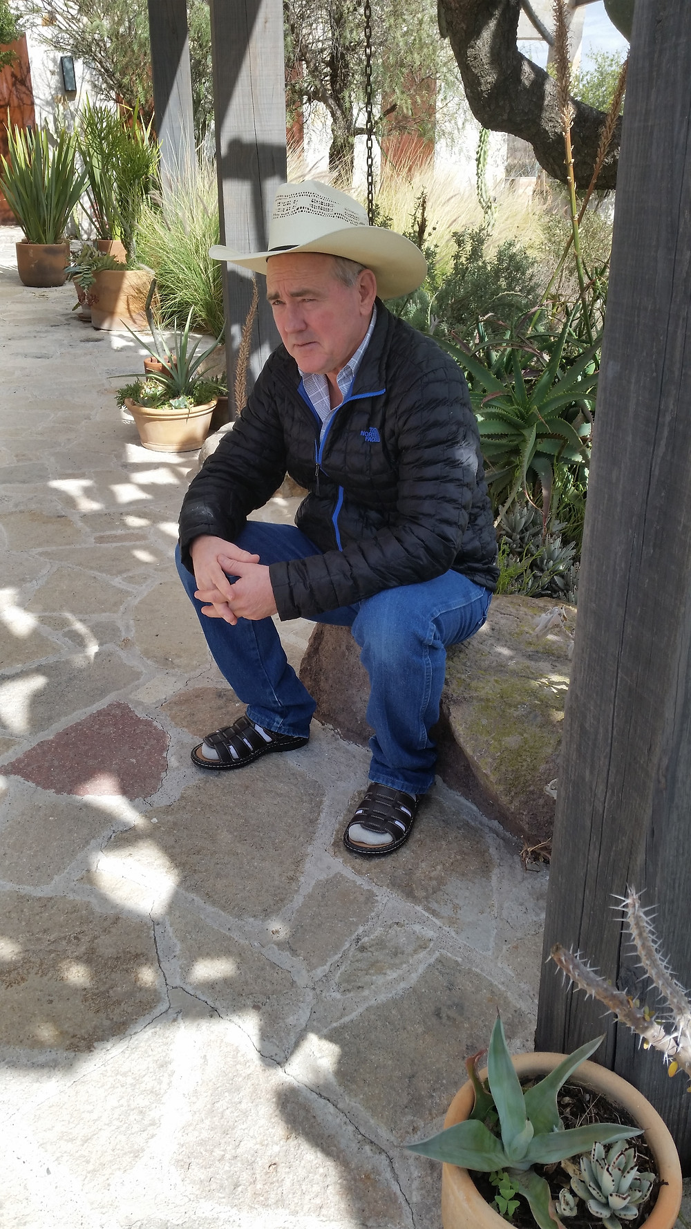 David Griffith in Mexico to do research for his next two books.