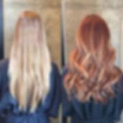 Red Stella hair salon hair coloring