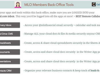 MLO Financial Comes Out with BEST Back-Office Tools for Loan Officers & Brokers
