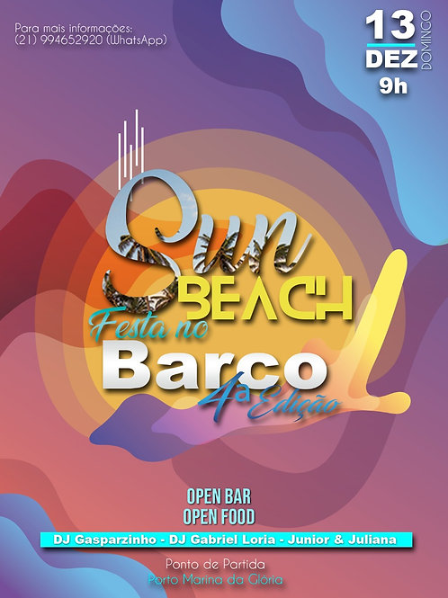 3º LOTE SUN BEACH FESTA NO BARCO 4º EDIÇÃO