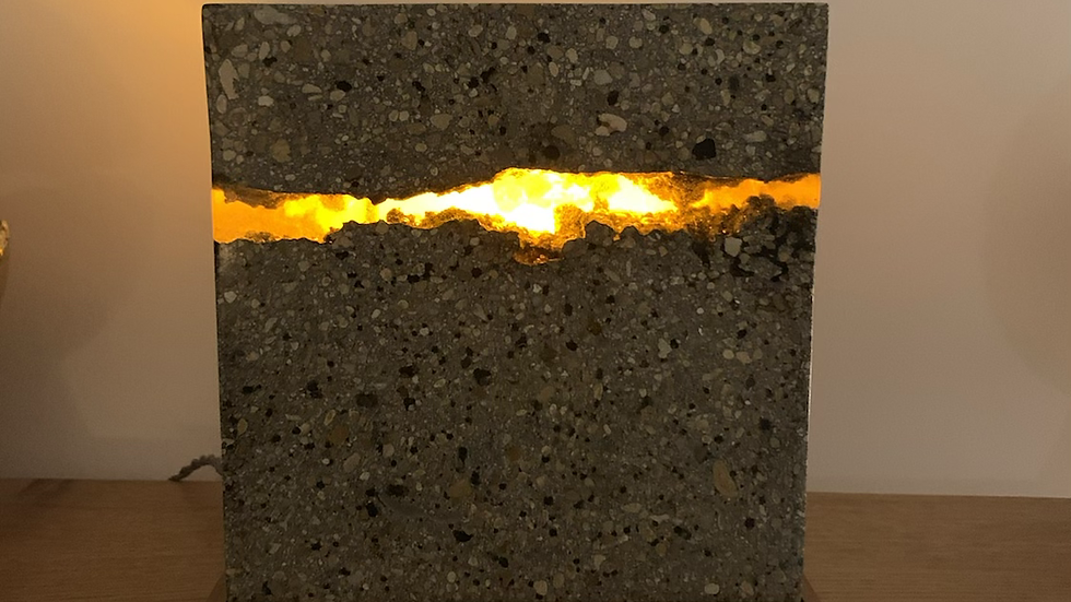 Resin Lava Concrete Lamp